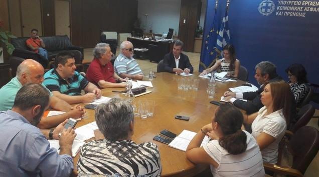 Συμμετοχή σε συνάντηση αντιπροσωπείας της Ε.Σ.Α.μεΑ στο Υπουργείο Εργασίας